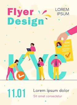 Conheça seu modelo de folheto de conceito de cliente