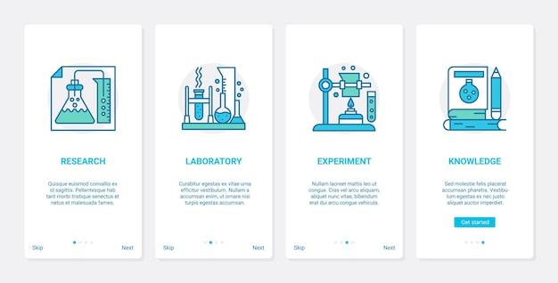 Conhecimento científico, ilustração de pesquisa de laboratório