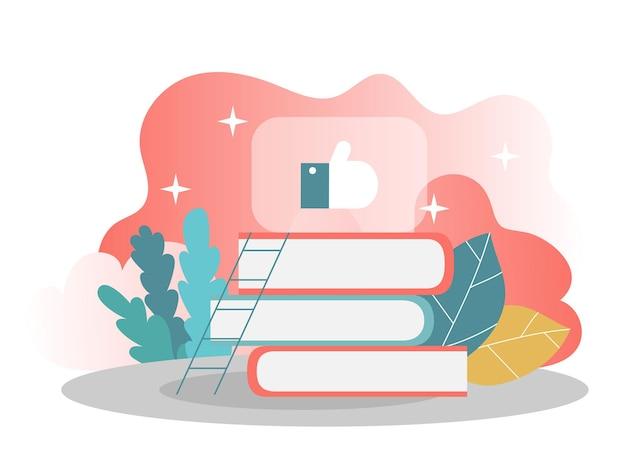 Conhecimento e conceito de aprendizagem. ilustração vetorial. conceito de design moderno plano de design de página da web para site e site móvel. ilustração vetorial
