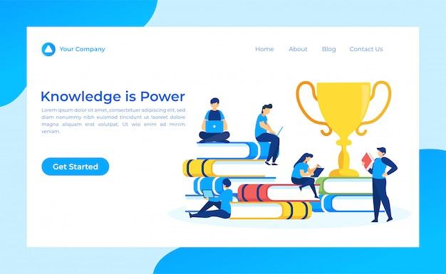 Conhecimento é power landing page