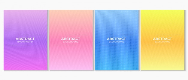 Conjunto abstrato colorido fundo gradiente