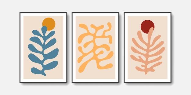Conjunto abstrato de arte de parede matisse