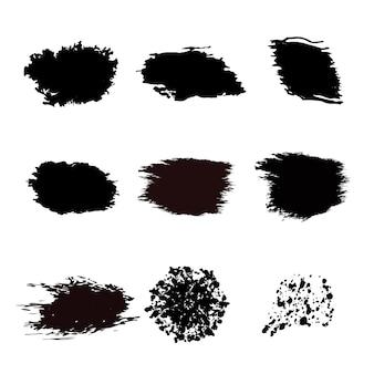 Conjunto abstrato de respingos de tinta ilustração em vetor isolado para seu web design