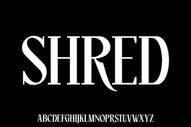 Conjunto alfabético de fontes modernas de luxo