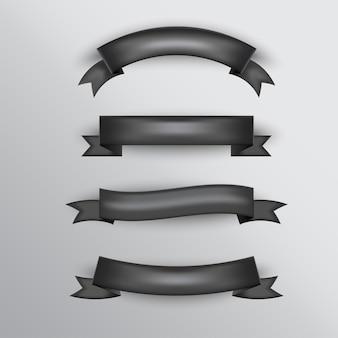 Conjunto básico de fita - cor preta