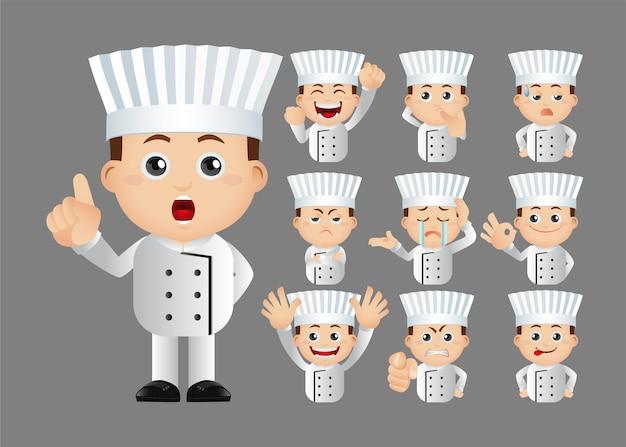 Conjunto bonito conjunto de chef