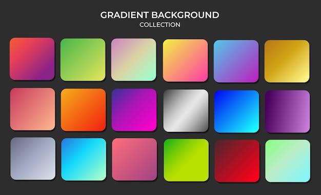 Conjunto brilhante e vibrante de amostras de fundo de gradientes