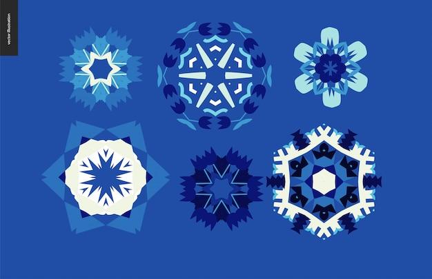 Conjunto caleidoscópico de inverno