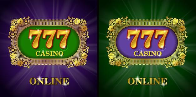 Conjunto caligráfico de casino online