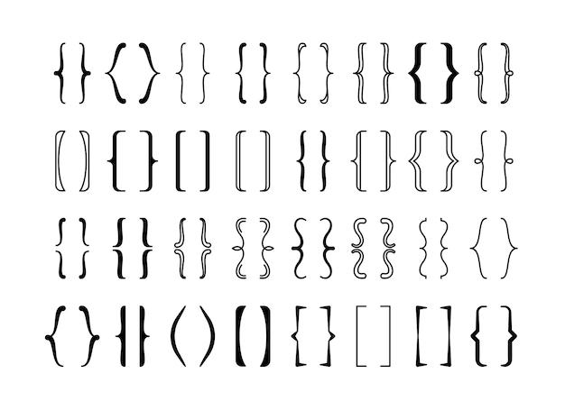 Conjunto caligráfico de chaves