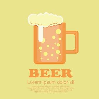 Conjunto clássico de desenhos animados, cerveja