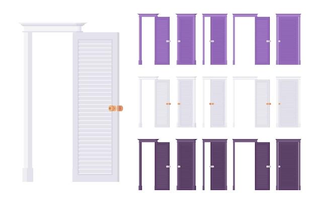 Conjunto clássico de portas niveladas