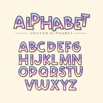 Conjunto colorido alfabeto