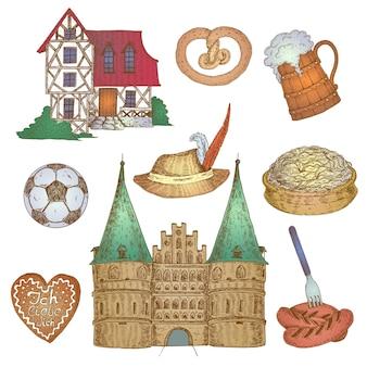 Conjunto colorido da alemanha