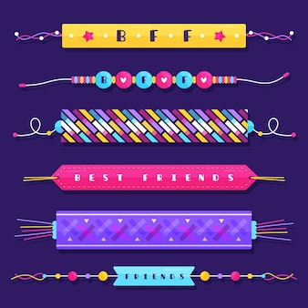 Conjunto colorido de banda de amizade