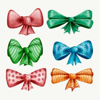 Conjunto colorido de fitas de natal