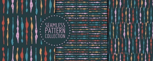 Conjunto colorido de padrões sem emenda