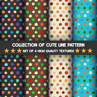 Conjunto colorido de padrões