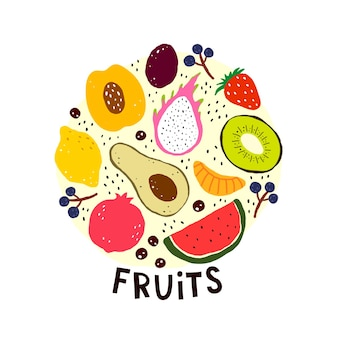 Conjunto com frutas