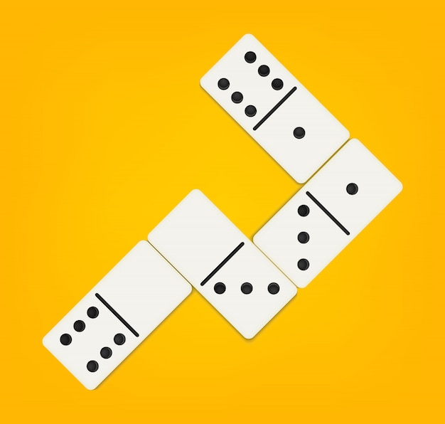 Conjunto completo de dominó, ossos de dominó, 28 peças.