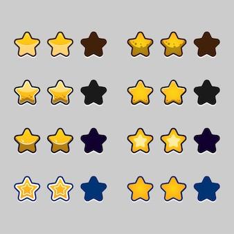 Conjunto completo de pop-up, ícone, janela e elementos do jogo de botão de nível