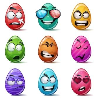 Conjunto cor ovo