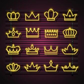 Conjunto coroa neon