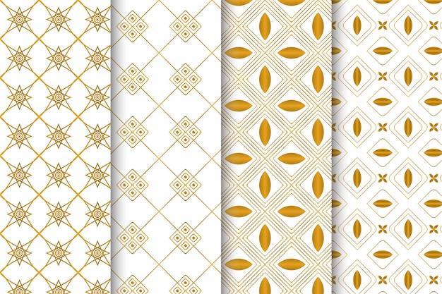 Conjunto criativo abstrato geométrico padrão sem emenda