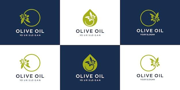 Conjunto criativo de azeite de oliva