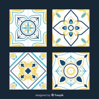 Conjunto criativo de azulejos