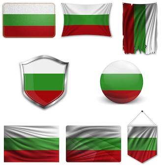Conjunto da bandeira nacional da bulgária