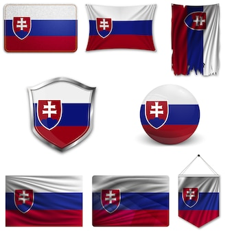 Conjunto da bandeira nacional da eslováquia