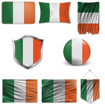Conjunto da bandeira nacional da irlanda
