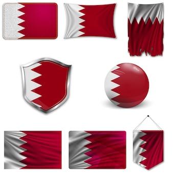 Conjunto da bandeira nacional do bahrein