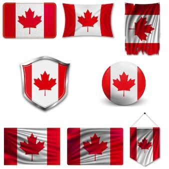Conjunto da bandeira nacional do canadá