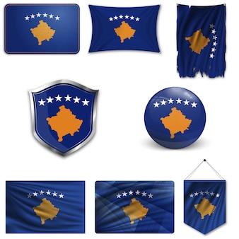 Conjunto da bandeira nacional do kosovo