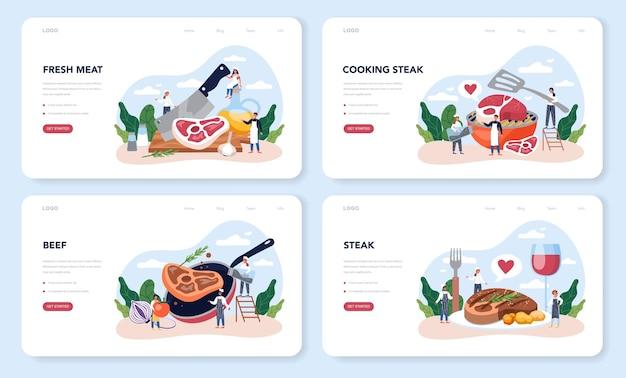 Conjunto da página inicial do steak