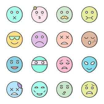 Conjunto de 16 ícones de emoji para uso pessoal e comercial