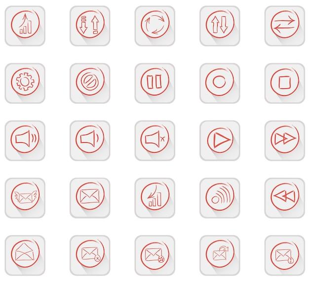 Conjunto de 25 ícones de qualidade