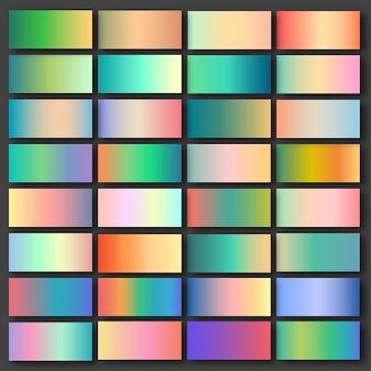 Conjunto de 32 gradientes de pastel