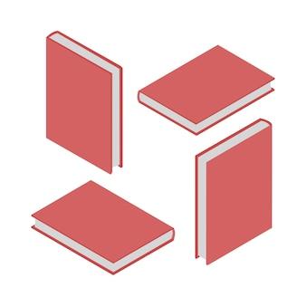 Conjunto de 4 livros isométricos