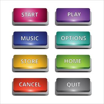 Conjunto de 8 botões coloridos para múltiplos propósitos