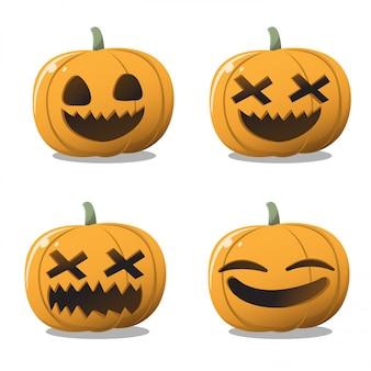 Conjunto de abóbora de halloween.