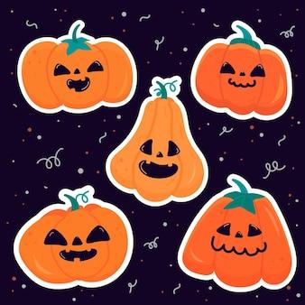 Conjunto de abóbora festival de halloween