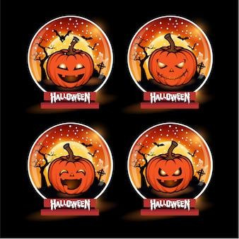 Conjunto de abóboras de halloween