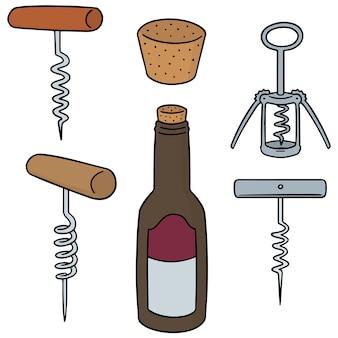 Conjunto de abridor de vinho