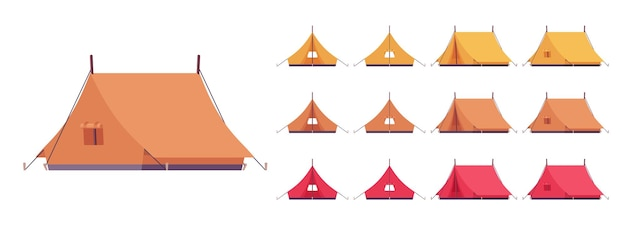 Conjunto de abrigo de tenda