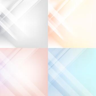 Conjunto de abstrato colorido gradiente