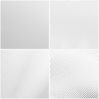 Conjunto de abstrato de estilo de gravura