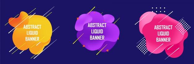 Conjunto de abstrato líquido ou líquido